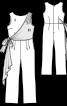 Комбінезон із асиметричною драпіровкою - фото 3