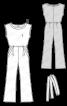 Комбінезон з розкльошеними брюками - фото 3