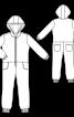 Комбінезон трикотажний з чотирма кишенями і капюшоном - фото 3