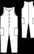 Комбінезон без рукавів з кишенями у швах - фото 3
