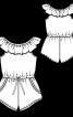 Комбінезон із вирізом кармен - фото 3