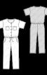 Комбінезон джинсовий з короткими рукавами - фото 3