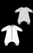 Комбінезон трикотажний із заниженим кроковим швом - фото 3