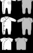 Комбінезон трикотажний з асиметричною застібкою на кнопки - фото 3