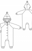 Комбінезон з капюшоном і рукавами реглан - фото 3