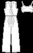 Комбінезон довгий і бюстьє на бретелях - фото 3