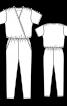 Комбінезон з приспущеними плечима - фото 3