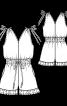 Комбінезон з V-подібними вирізами - фото 3