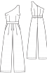 Комбінезон з асиметричним вирізом - фото 3