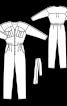 Комбінезон спортивного крою з поясом - фото 3