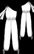Комбінезон трикотажний на одне плече - фото 3