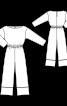 Комбинезон простого кроя с кулиской на талии - фото 3