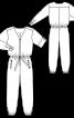Комбінезон атласний з довгими рукавами - фото 3