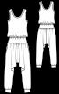 Комбінезон трикотажний з шальварами - фото 3