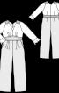 Комбінезон V-подібним вирізом і воланами - фото 3