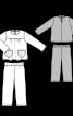 Туніка силуету ампір і брюки на еластичному поясі - фото 3