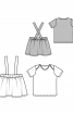 Спідниця на бретелях і футболка - фото 3