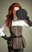 Корсаж із баскою і застібкою-блискавкою - фото 1