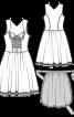 Сукня з фартухом і мереживною блузкою - фото 3