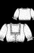 Сукня з фартухом і мереживною блузкою - фото 5
