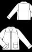 Куртка з лакової штучної шкіри - фото 3