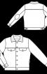Куртка твідова на хутряній підкладці - фото 3