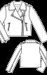 Куртка шкіряна в байкерському стилі - фото 3