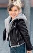 Куртка шкіряна в байкерському стилі - фото 1