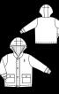 Куртка з капюшоном і подвійною застібкою - фото 3