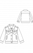 Куртка джинсова з відкладним коміром - фото 3