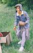 Куртка джинсова з хутряним коміром - фото 1
