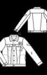 Куртка джинсова з хутряним коміром - фото 3