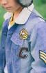 Куртка джинсова з хутряним коміром - фото 4