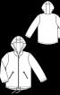 Куртка прямого крою з капюшоном - фото 3