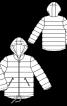 Куртка утеплена прямого крою з капюшоном - фото 3