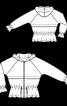Куртка з капюшоном і рукавами реглан - фото 3