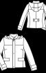 Куртка з коміром-стойкою і капюшоном - фото 3