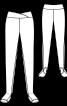 Легінси на широкому фігурному поясі - фото 3