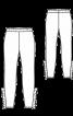 Легинсы замшевые с оборками в боковых швах - фото 3