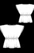 Туніка лляна з куліскою на талії - фото 3