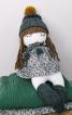 Лялька м'яка у сукні і шапці - фото 1