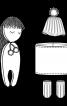 Лялька м'яка у сукні і шапці - фото 3