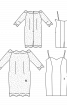 Сукня мереживна з сукнею-чохлом на бретелях - фото 3