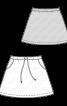 Спідниця міні трикотажна на кулісці - фото 3