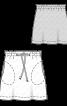Спідниця міні з призбореним поясом - фото 3