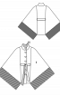 Пончо с воротником-стойкой и бахромой - фото 3
