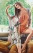 Пончо оздоблене тасьмою з бахромою - фото 1