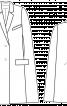 Накидка з лацканами і кишенями - фото 3