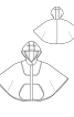Накидка з капюшоном і великими кишенями - фото 3