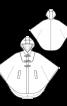 Накидка довга з прорізними кишенями - фото 3